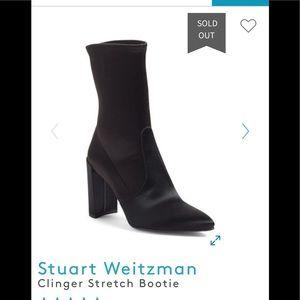 Stuart Weitzman  Heeled Velvet Booties (11.5)
